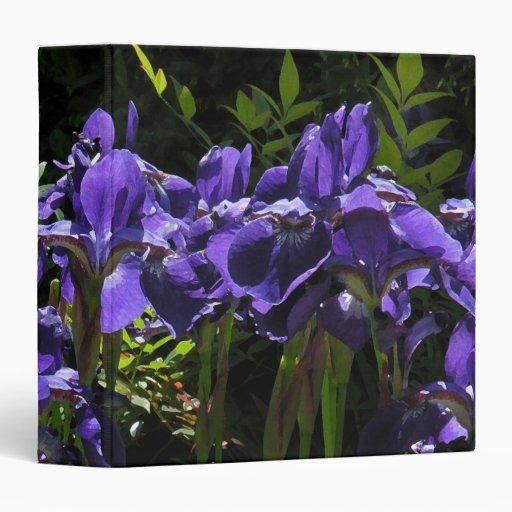 Carpeta azul de la acuarela del iris