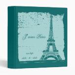 Carpeta azul de la foto de la torre Eiffel