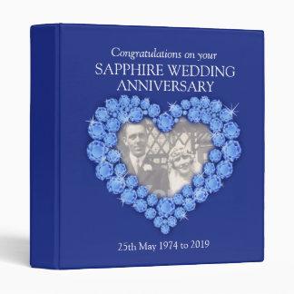 Carpeta azul de la foto del aniversario de boda