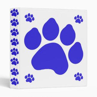 Carpeta azul de la impresión de la pata