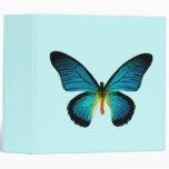 Carpeta azul de la mariposa