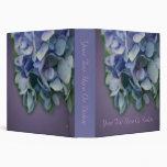 Carpeta azul de la naturaleza de la flor del Hydra