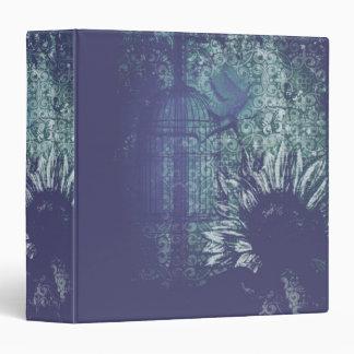 Carpeta azul de la paloma del Grunge del girasol
