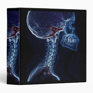 Carpeta azul de la radiografía de la C-espina dors