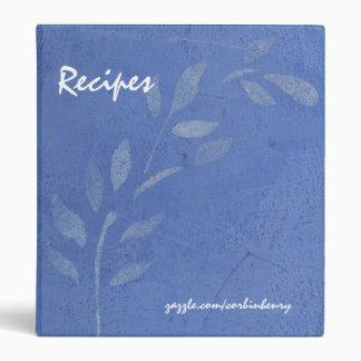 Carpeta azul de la receta de la vid