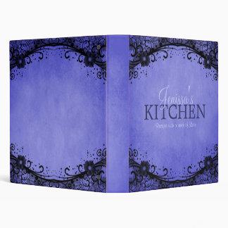 Carpeta azul de la receta del cordón