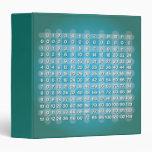 Carpeta azul de la tabla de multiplicación