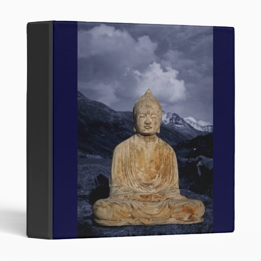 Carpeta azul de las montañas de Buda