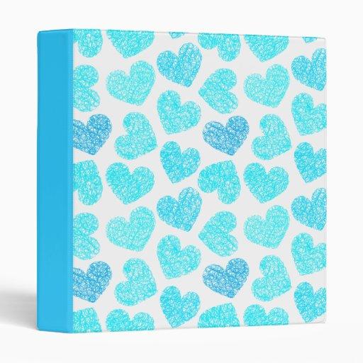 Carpeta azul de los corazones