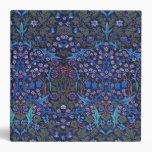 Carpeta azul de Nouveau del arte de William Morris