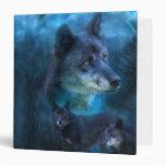 Carpeta azul del arte del lobo
