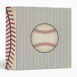 Carpeta azul del béisbol del vintage