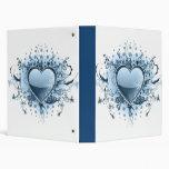 Carpeta azul del corazón de Emo