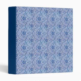 Carpeta azul del cuaderno del cordón