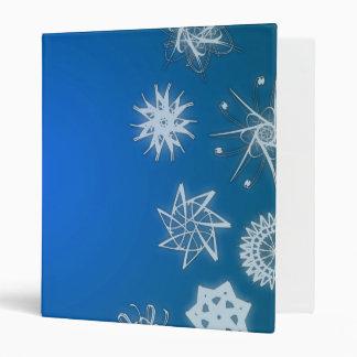 Carpeta azul del día de fiesta de los copos de