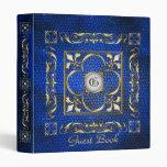 Carpeta azul del libro de visitas de la flor de li