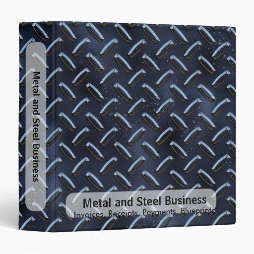 Carpeta azul del negocio de la placa del diamante