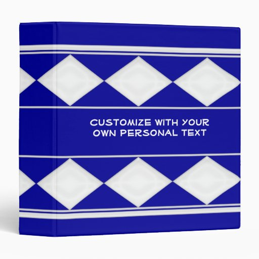 carpeta azul del personalizable del diamante