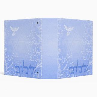 Carpeta azul del remolino de la paloma de Shalom
