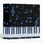 Carpeta azul del teclado