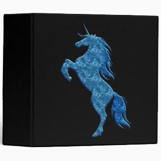 Carpeta azul del unicornio del fuego