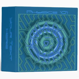 Carpeta azul fresca del curso del estudiante de ar