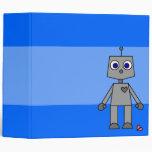 Carpeta azul grande del corazón quebrado del robot