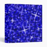 Carpeta azul marino del Glitz