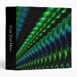 Carpeta azul negra verde abstracta de las tonalida