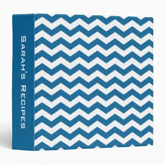 Carpeta azul personalizada de la receta de Chevron