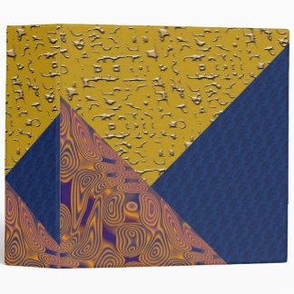 Carpeta azul y anaranjada del remiendo