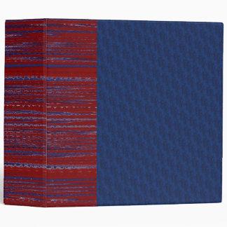 Carpeta azul y fresca roja