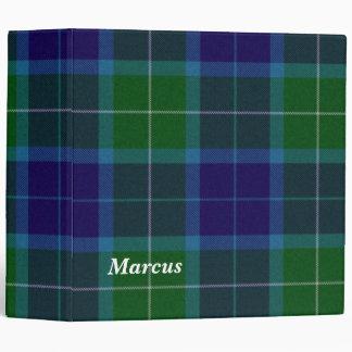 Carpeta azul y verde colorida de la tela escocesa
