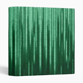 Carpeta binaria verde de la lluvia