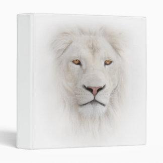 Carpeta blanca de la cabeza del león
