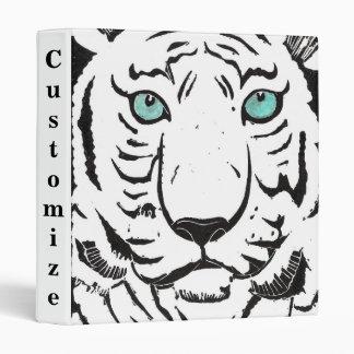 Carpeta blanca del personalizado del tigre