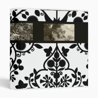 Carpeta blanco y negro de la foto del estampado de