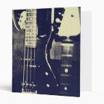 Carpeta blanco y negro de la guitarra