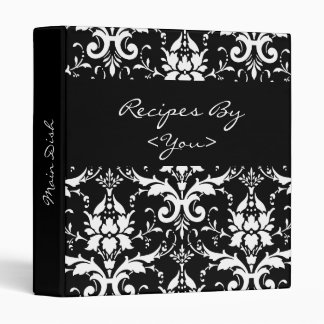 Carpeta blanco y negro del libro del cocinero de