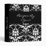 Carpeta blanco y negro del libro del cocinero de l