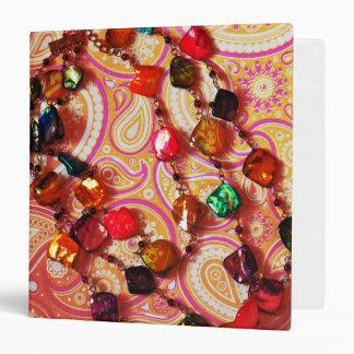 Carpeta bohemia de Paisley de la piedra preciosa