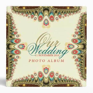 Carpeta bohemia exótica del álbum del boda de la c
