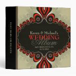 Carpeta bohemia moderna del álbum del boda