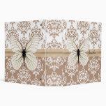 Carpeta bonita de la mariposa del damasco del more
