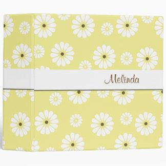 Carpeta brillante de la margarita amarilla y blanc