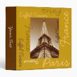 Carpeta Brown de París Francia de la torre Eiffel