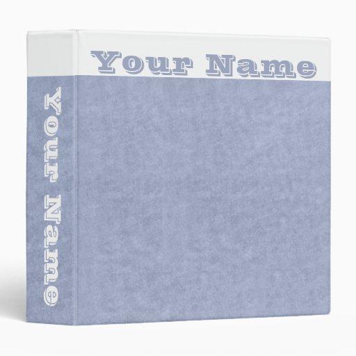 . Carpeta cambiante de organización de los azules