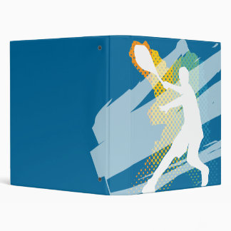 Carpeta/carpeta del tenis con el jugador de tenis