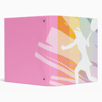 Carpeta/carpeta del tenis con rosa de la impresión