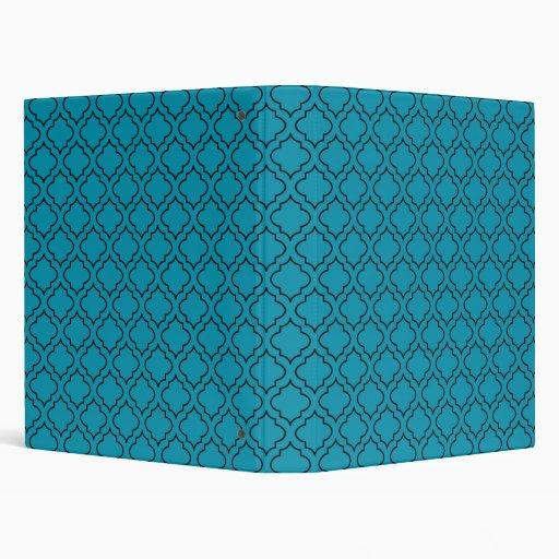 Carpeta clásica de la turquesa